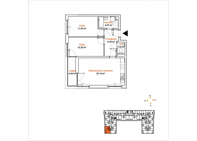 Mieszkanie 63J/42