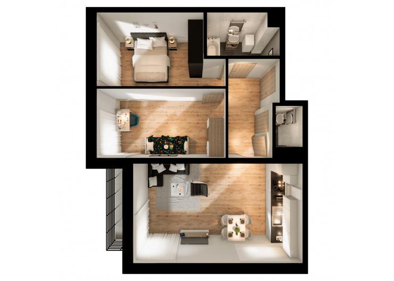 Mieszkanie 63J/152