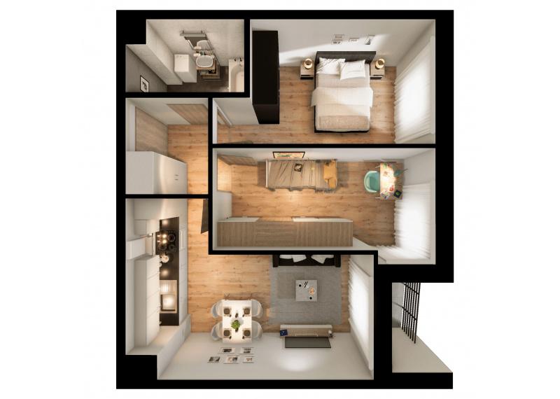 Mieszkanie 63J/156