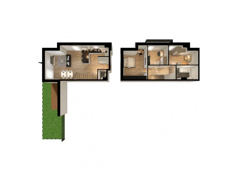 Mieszkanie M/M1 - I etap